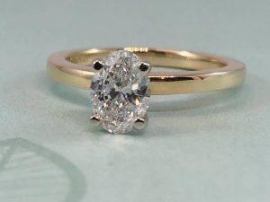 oval diamond ring in winnipeg