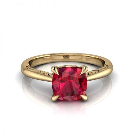 ruby engagement rings vintage