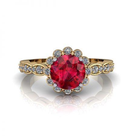 vintage floral halo engagement rings winnipeg