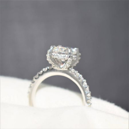 winnipeg engagement rings with diamond collar