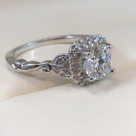 flower engagement ring winnipeg