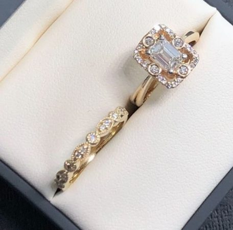 matching engagement rings and wedding rings